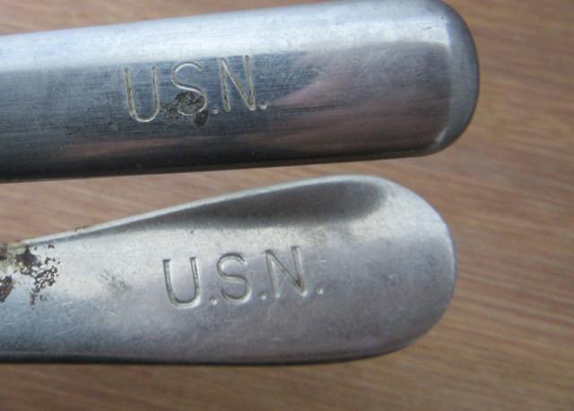 WW11  USN FORK N KNIFE AGR1376
