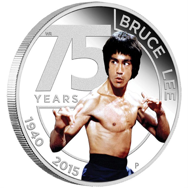 75th Anniversary of Bruce Lee 2015 1oz Silver Proof Coin