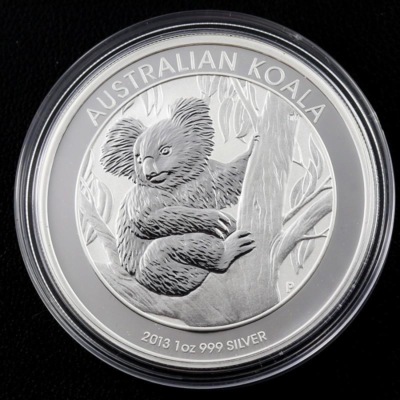 2013  AUSTRALIAN ONE  OUNCE KOALA SILVER   COIN