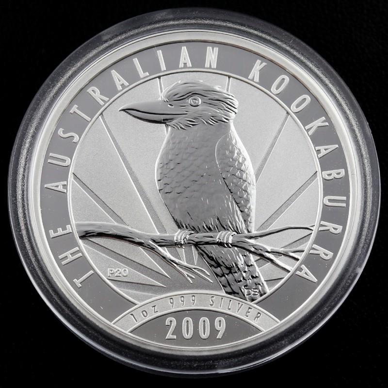2009 AUSTRALIAN  OUNCE KOOKABURRA  SILVER   COIN