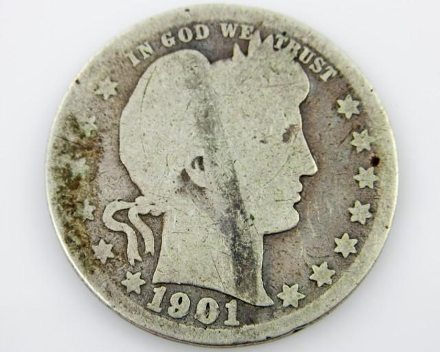 1901 United States worn quarter CO 2018