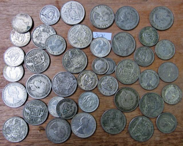 350 Grams POST1946 silver coins Co2070