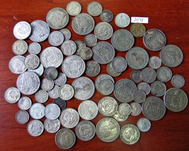 340 Grams POST1946 silver coins Co2071