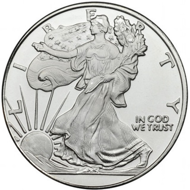 1/2 ounce .999 silver walking liberty