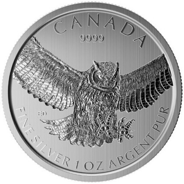 Canadian Great owl .9999 pure silver
