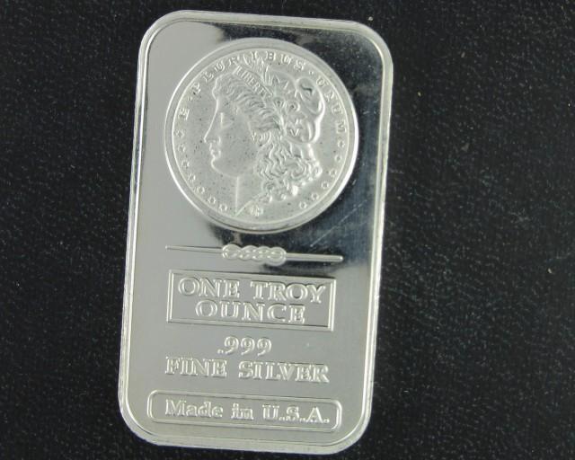 Morgan .999 pure silver bar one ounce