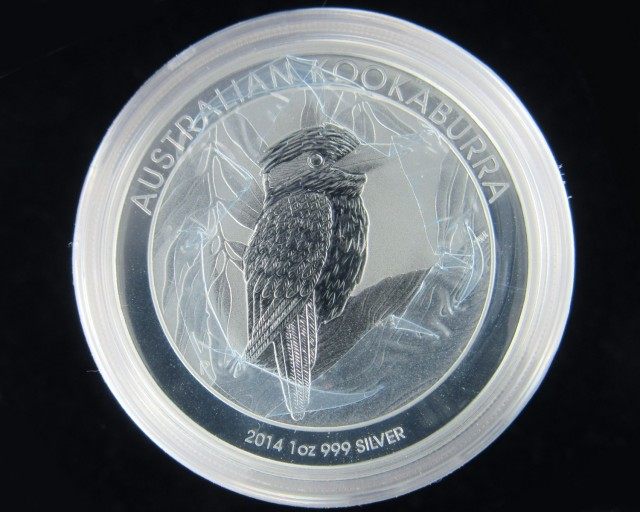 2014 Kookaburra One  Ounce Roll 20 Silver Coin