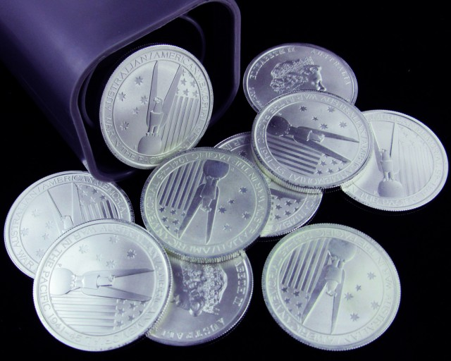 2013 Australian/American Memorial  Silver Coin half ounce