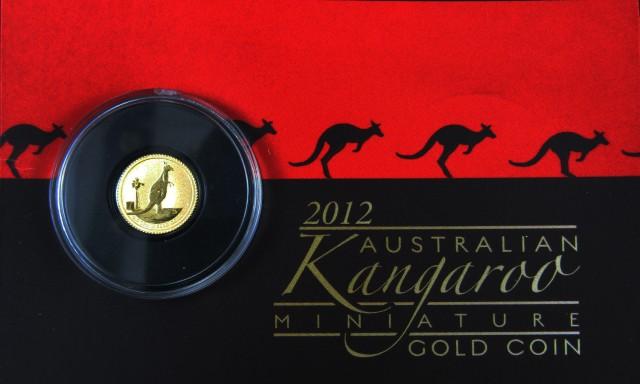 2012 Kangaroo 0.016 Ounce Gold coin