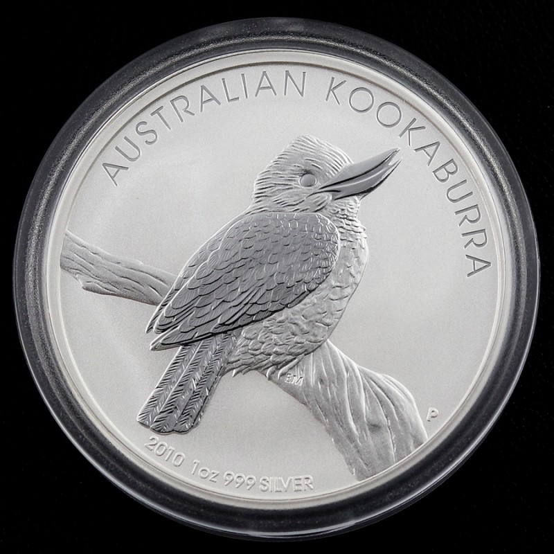 2010 Kookaburra One  Ounce Roll 20 Silver Coin