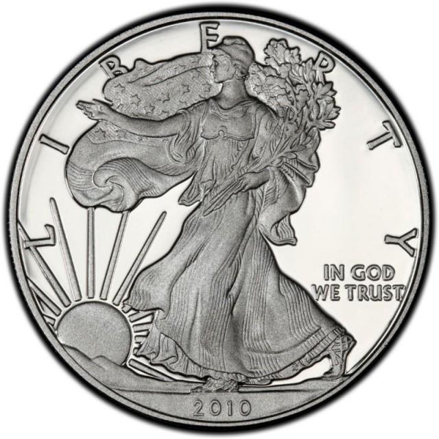 2010 American Eagle Silver Coin 99 9 Pure Silver