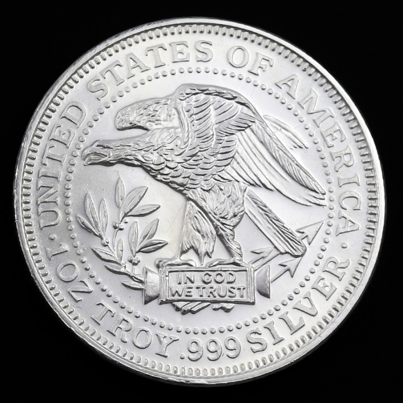 USA TRADE UNIT ONE OUNCE .999 PURE SILVER
