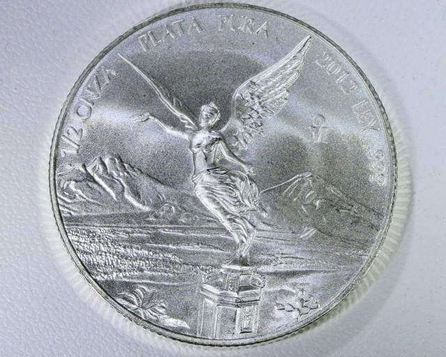 2012 Mexican libertad  1/2 ouce silver coin .999