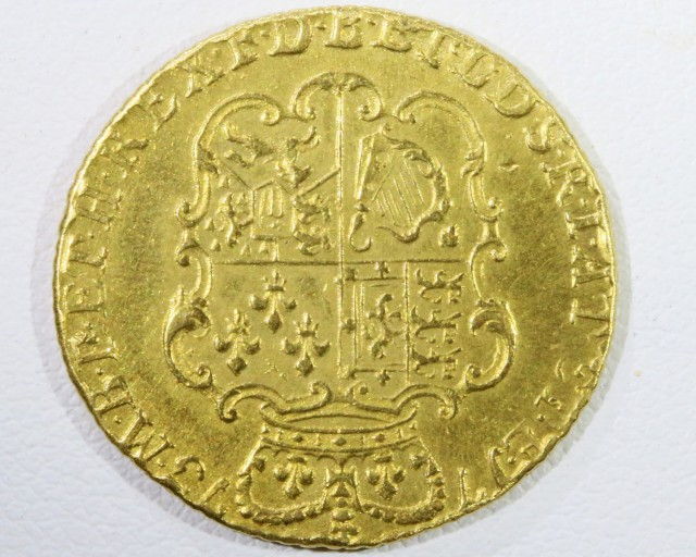 1773 GUINEA 3 Rd HEAD  GOLD COIN CO 952