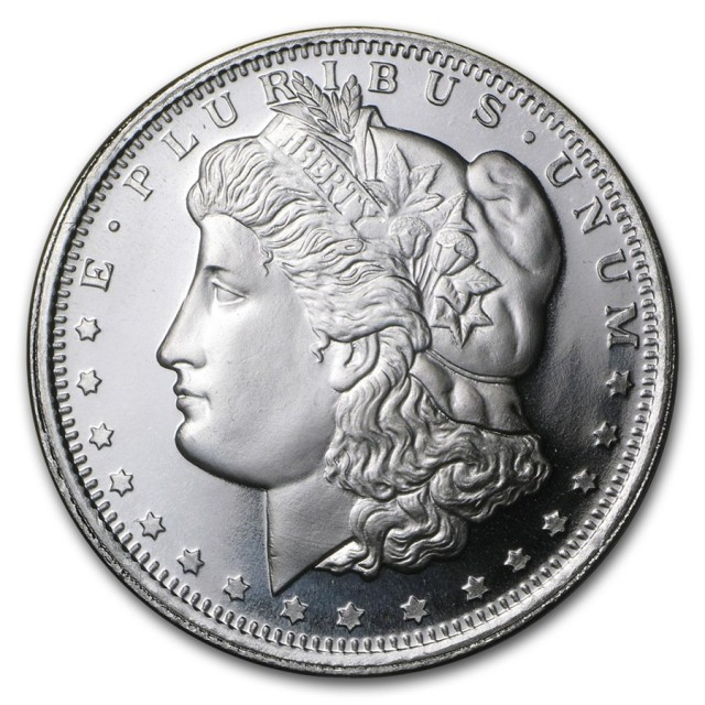 Morgan dollar silver round one ounce .999 pure silver