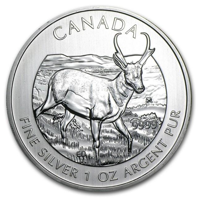 Canada 1 oz Silver Wildlife Series Pronghorn Antelope