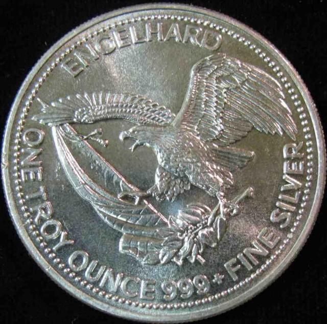 1985 American prospector 1 Oz silver round
