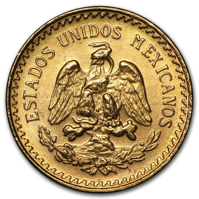 1945 Mixican Golsd 2 1/2 Pesos AGW .603