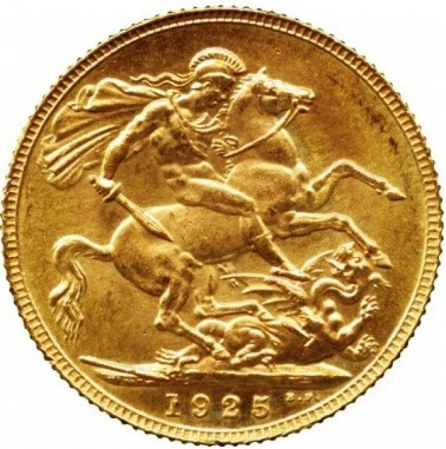 1925 Gold soverign B.M  0.2354 oz AGW