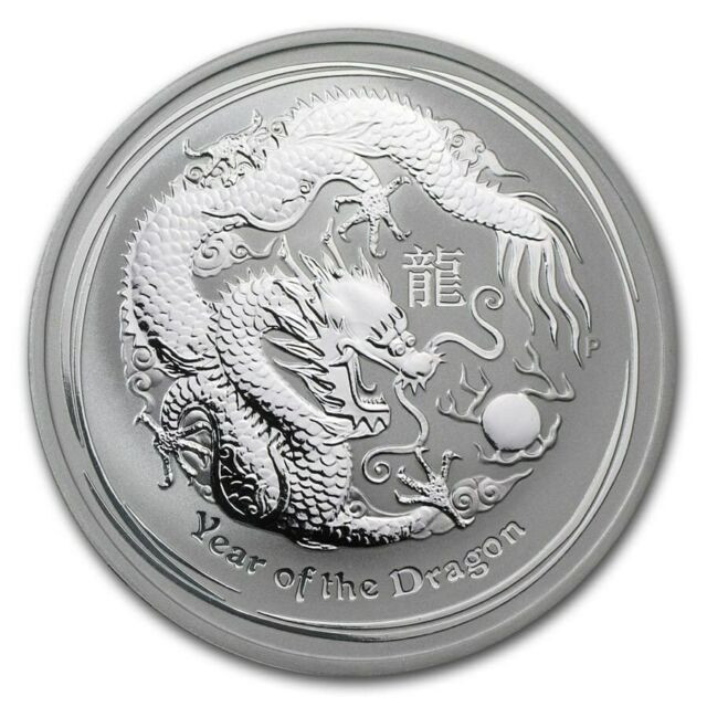 2012 AUSTRALIAN  DRAGON TW0  OUNCE COIN