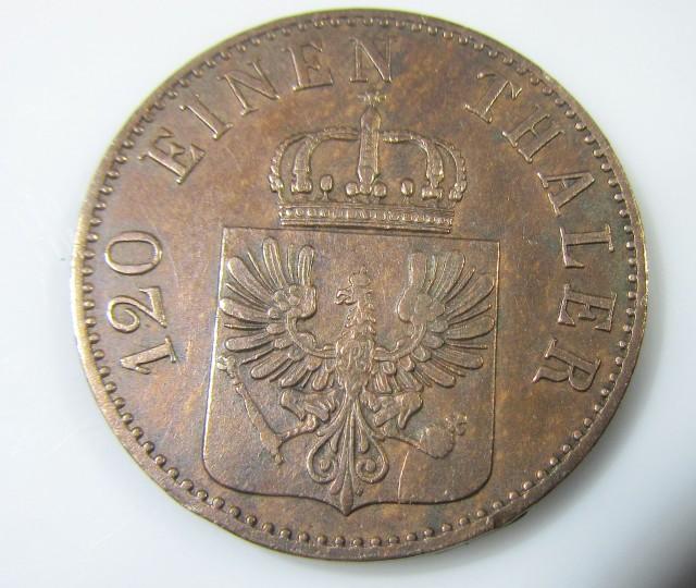 Prussian kingdom 1859three pfennig J2206