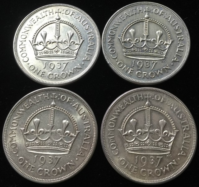 Four Australian One Crown 925 silver coin  CO 2300
