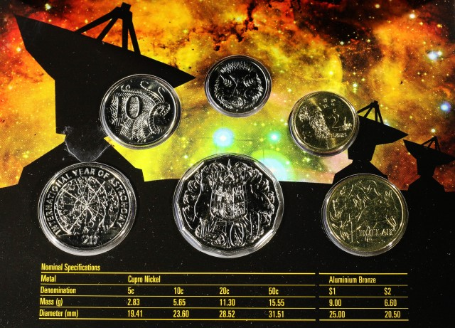 2009 Australian Mint Set of Coins -RAM  Year of Astronomy co 2308
