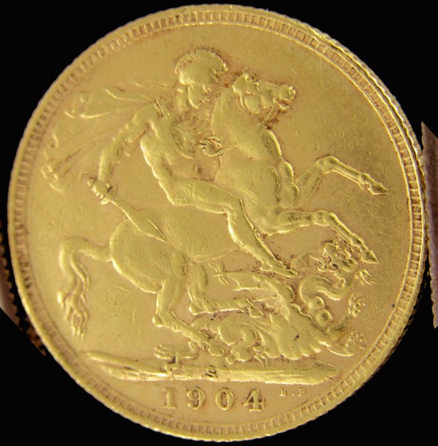 S 1904  Full Gold Sovereign  EDWARD VII CO2316