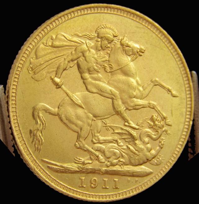 S 1911 Full Gold Sovereign   GEORGIVS V CO2317