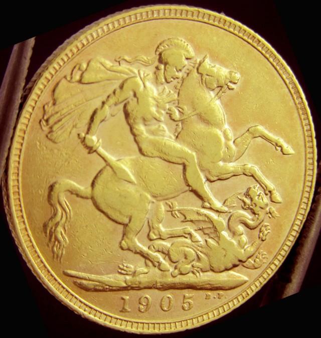 Full Gold Sovereign P1905 EDWARD CO2325