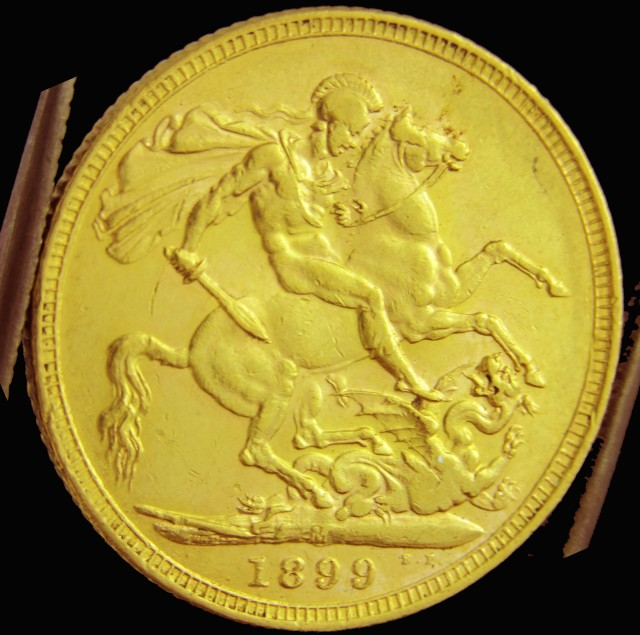 M1899  Full Gold Sovereign QUEEN VICTORIA CO2330