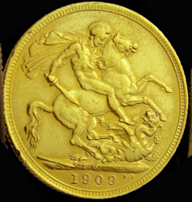 M1909 Full Gold Sovereign  EDWARD VII CO2335