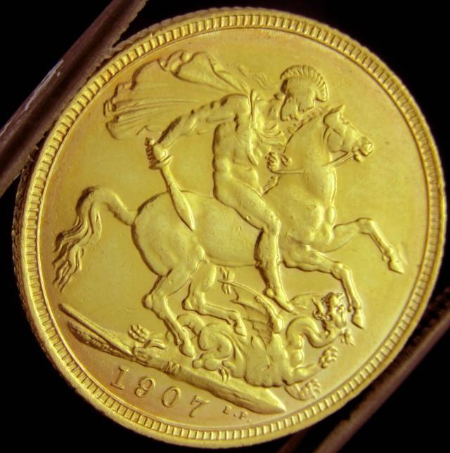 M1907 Full Gold Sovereign EDWARD VII CO2336
