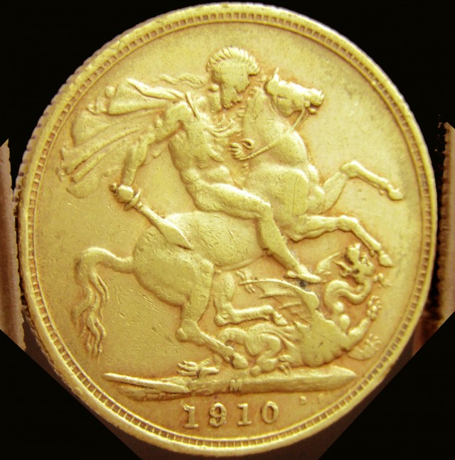 M 1910 Full Gold Sovereign   EDWARD CO2339