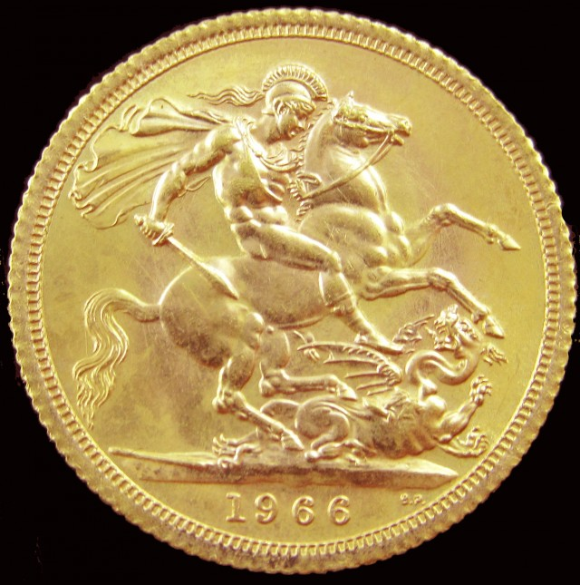 1966 Full Gold Sovereign Queen Elizabeth II CO2340