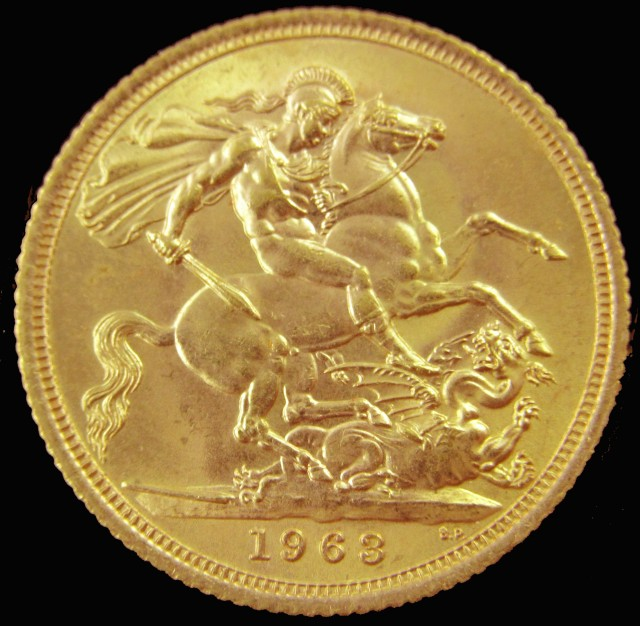 1963 Full Gold Sovereign Queen Elizabeth II CO2341