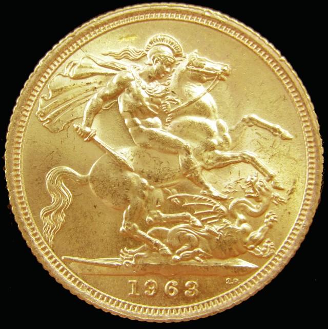 1963 Full Gold Sovereign Queen Elizabeth Ii Co2342