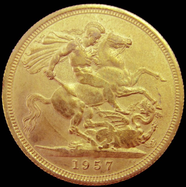 1957 Full Gold Sovereign Queen Elizabeth II CO2343