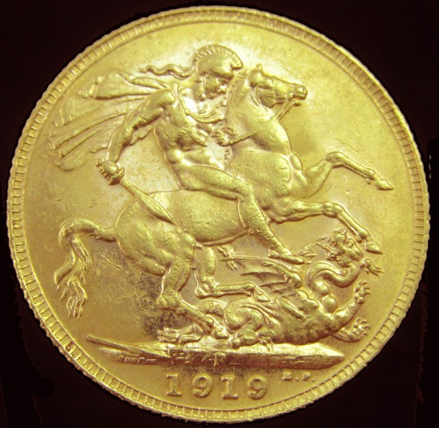 1919 Full Gold Sovereign George V CO2349