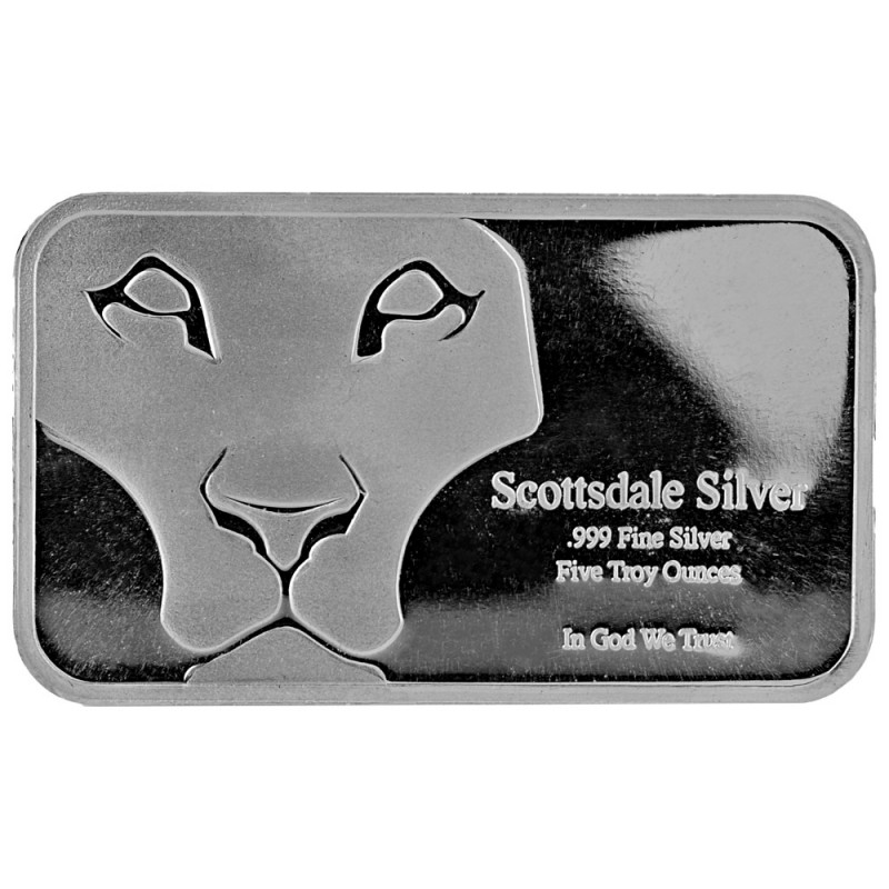 5 ounce mint prey bar .999 Scottsdale silver