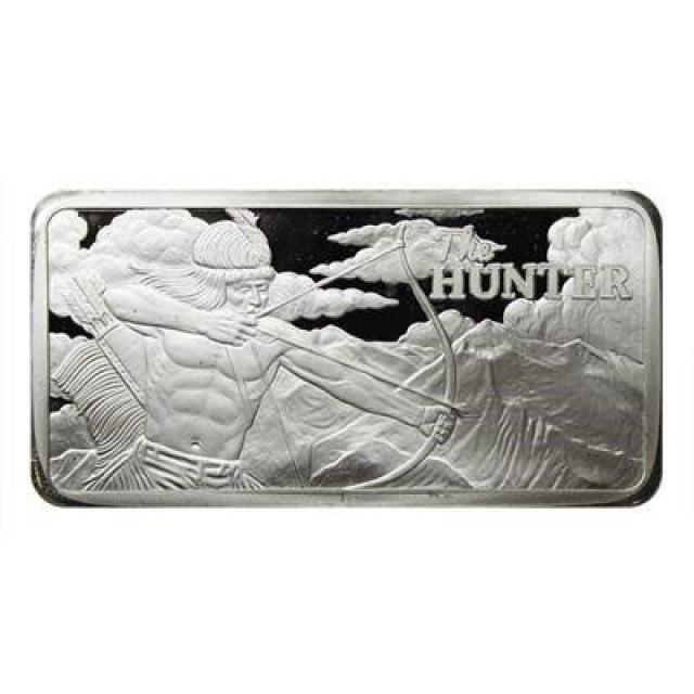 10 ounce the hunter silver bar 99.9% silver