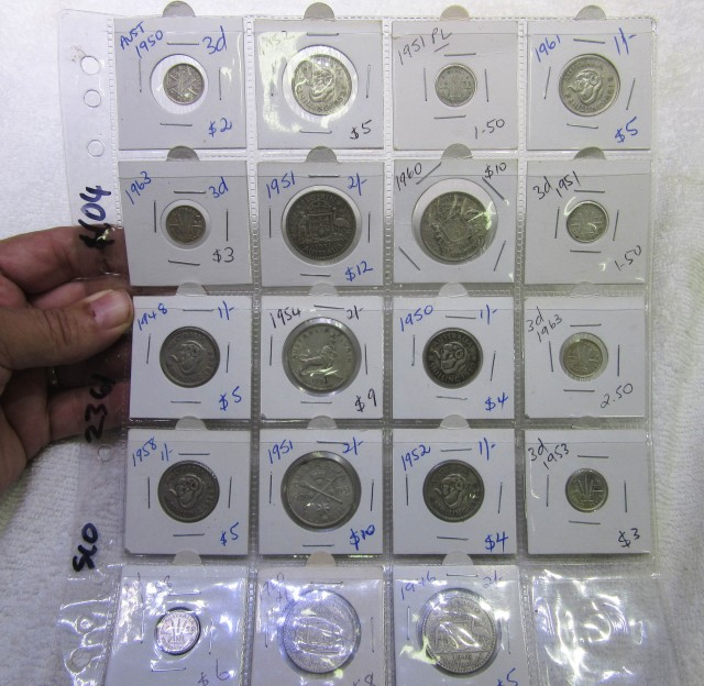 19 x  Mix  POST1946 silver coins Co2361