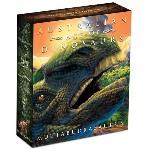 Australian Age of Dinosaurs – Muttaburrasaurus 2015 1oz Silver Proof Coin