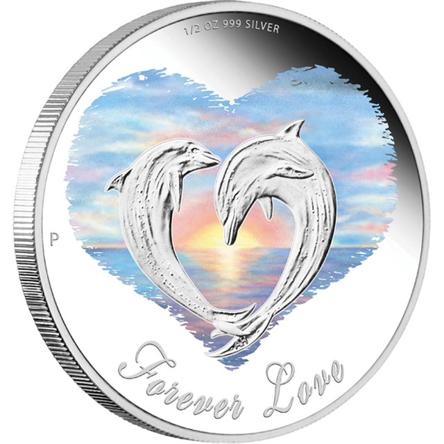 2013 FOREVER LOVE  1/2OZ SILVER PROOF COIN