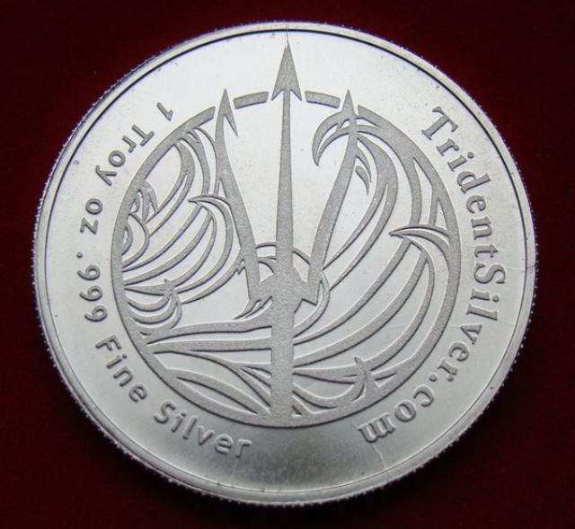 Trident son of Neptune silver round 99.9% pure silver