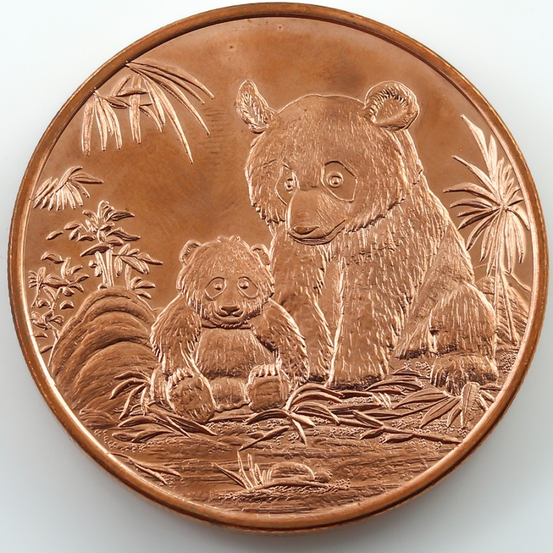 .999 PURE COPPER USA BEAR ONE OUNCE  MEDALLION CO134