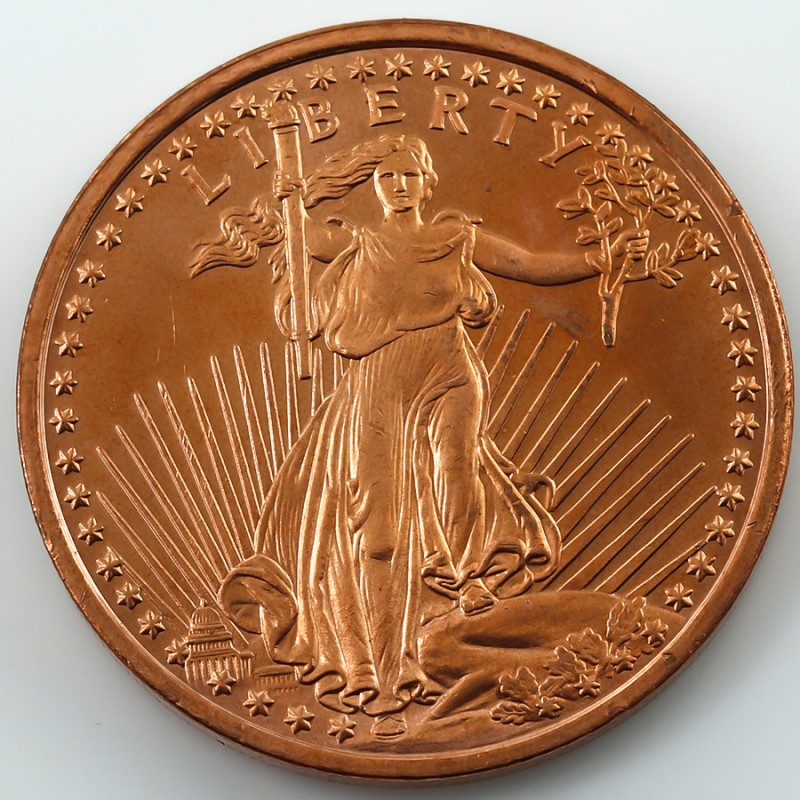 .999 PURE COPPER LIBERTY 2011 ONE OUNCE  MEDALLION CO1343