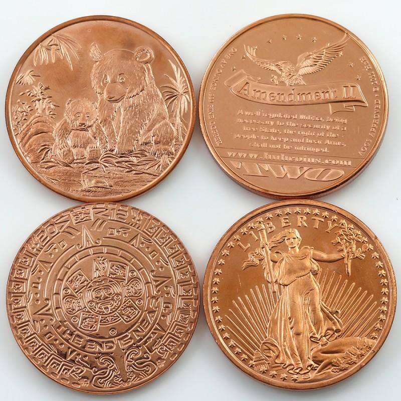 Copper rounds Collectors parcel  deal Pure Copper 99.9%