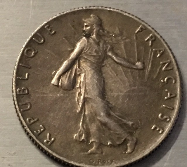FRANCE L1, 1918 FIFTY CENTIMES COIN J 2502