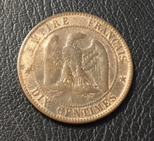 FRANCE LOT 1, DIX CENT 1863 COIN  J 1503